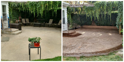 patio concrete overlay before and after sioux falls